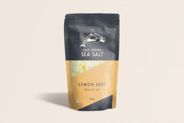 Salt Spring Sea Salt Lemon Zest fleur de sel
